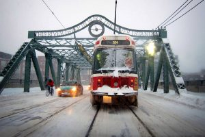 When will Toronto get its first snowfall of the season?