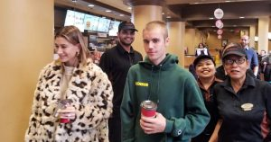 Justin Bieber and Hailey Baldwin just visited a Tim Hortons in Toronto