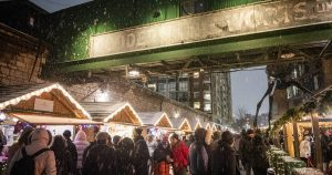 The cold side of the Toronto Christmas Market