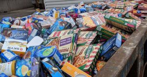 No Frills dumpster overflows with frozen food after power outage