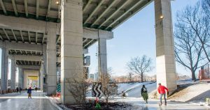 Skate for free under the Gardiner Expressway this winter
