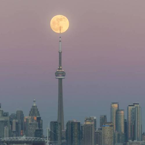A rare full worm super moon will rise over Toronto this week