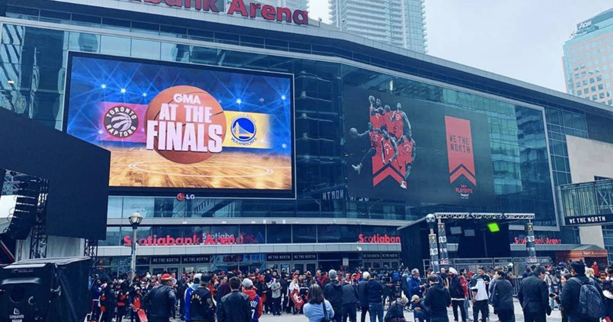 People are already lined up outside Jurassic Park for Game 1 of the NBA Finals in Toronto