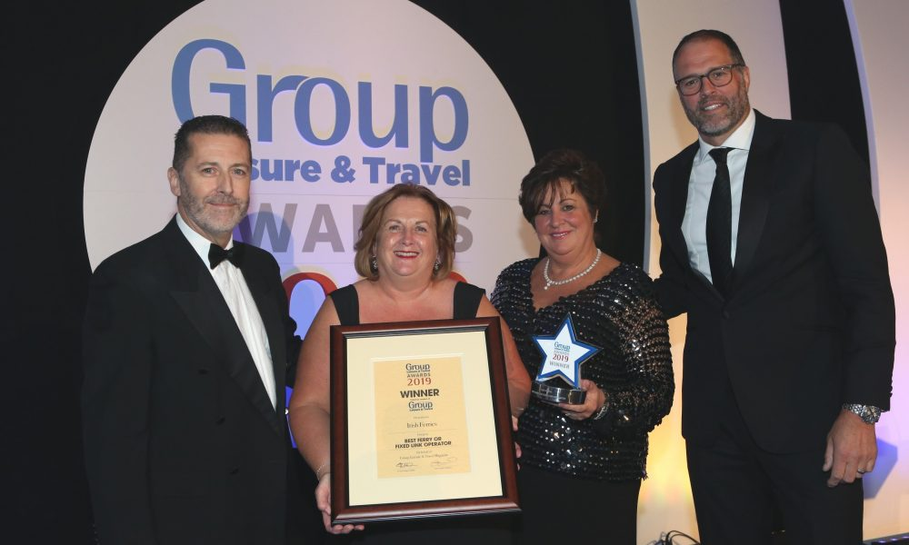 Irish Ferries is 'Best Ferry or Fixed Link Operator' for Coach and Group Travel