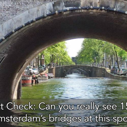 Fact Check: Can you really see 15 of Amsterdam's bridges at this spot?
