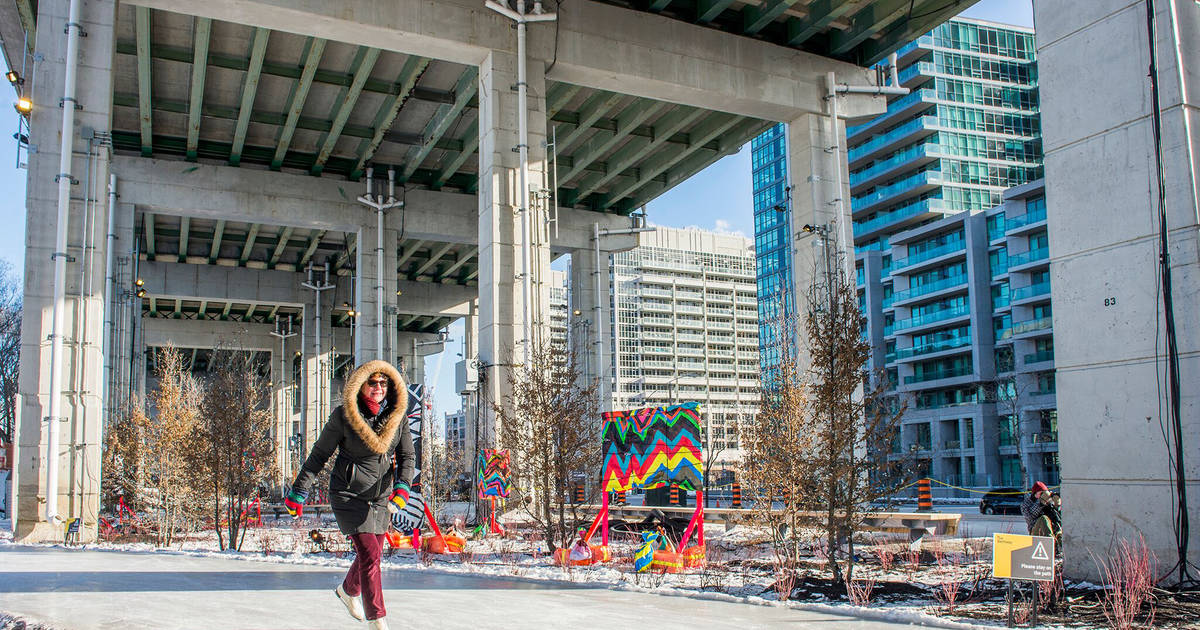 You can skate for free under the Gardiner Expressway this winter