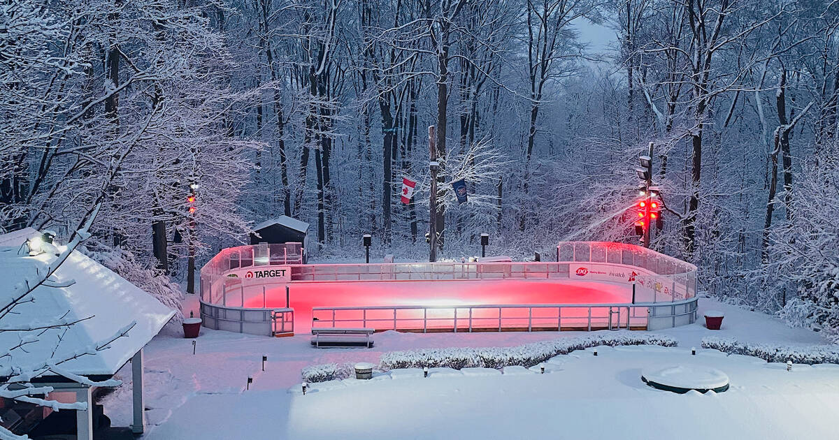This might be the most over-the-top backyard skating rink in Toronto
