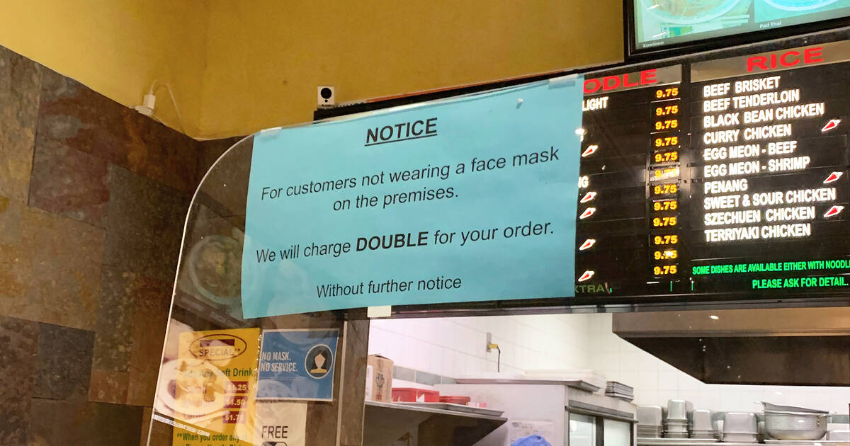 Toronto restaurant introduces rule to charge patrons double if they don't wear a mask