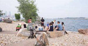 Ontario Place is now accepting reservations for their 4 outdoor fire pits