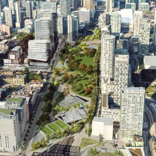 The massive rail deck park in Toronto has been canceled in favour of condos