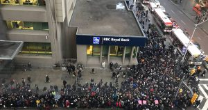 Yonge and Bloor was total chaos because of the TTC