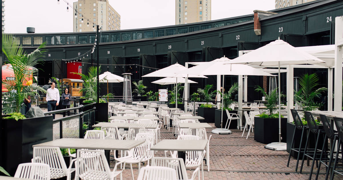 The Rec Room in Toronto just opened a sprawling patio