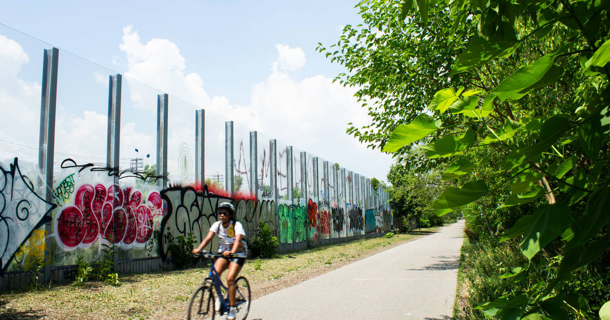 The West Toronto Railpath is the city's hidden urban trail next to the train tracks