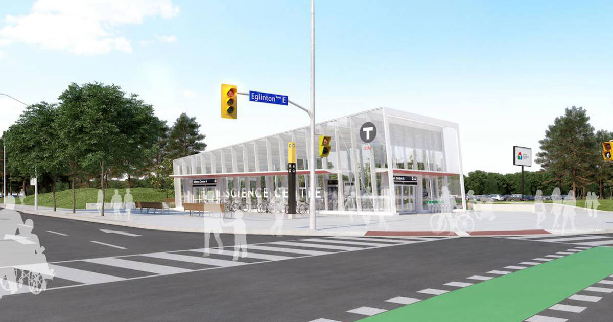 This is what all the new stations will look like when the Eglinton Crosstown is built