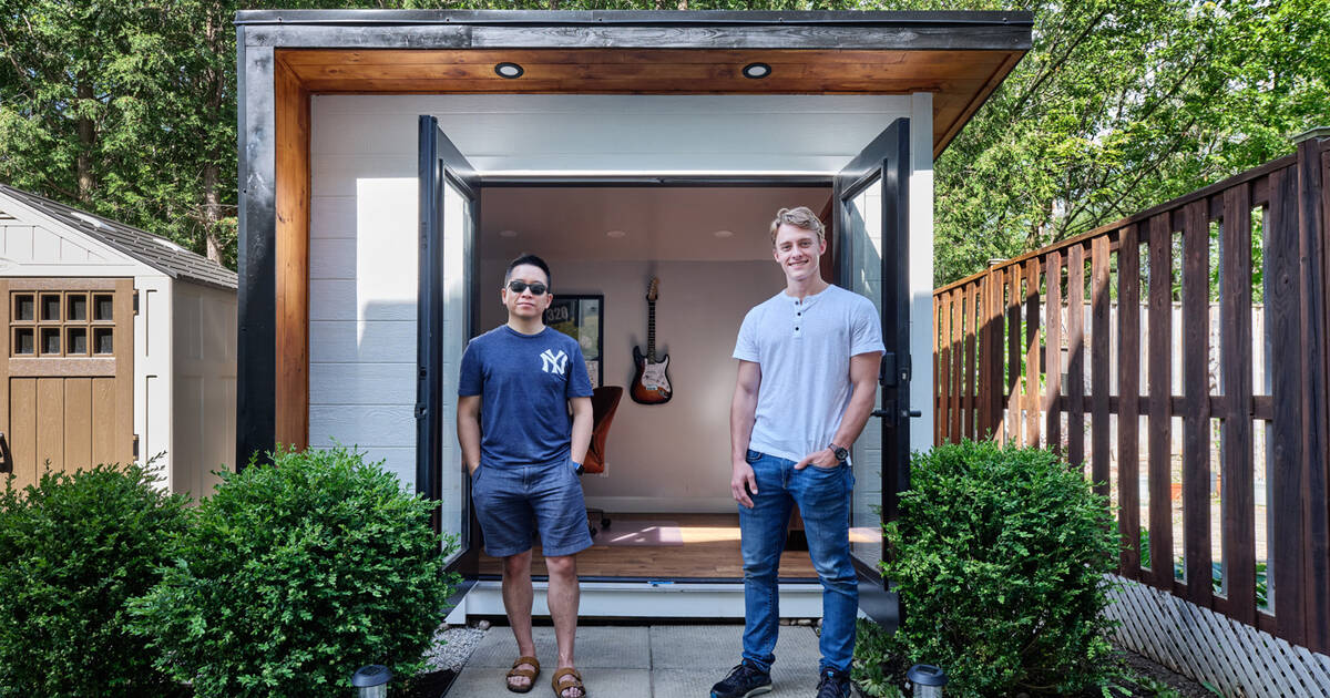 Toronto student starts business making backyard offices for all your work from home needs